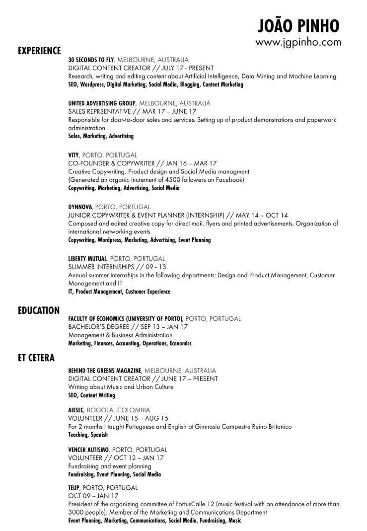 Joao Pinho - Resume-1